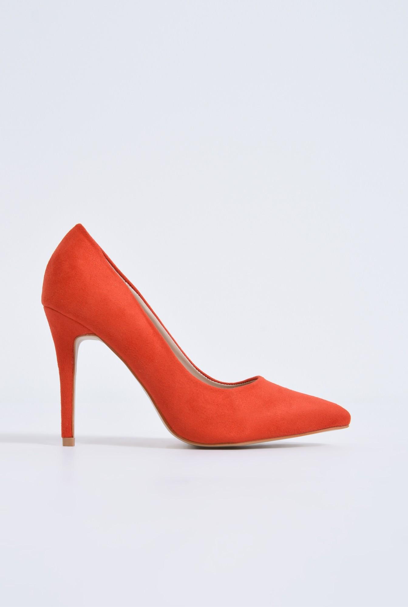 pantofi casual, rosu, stiletto