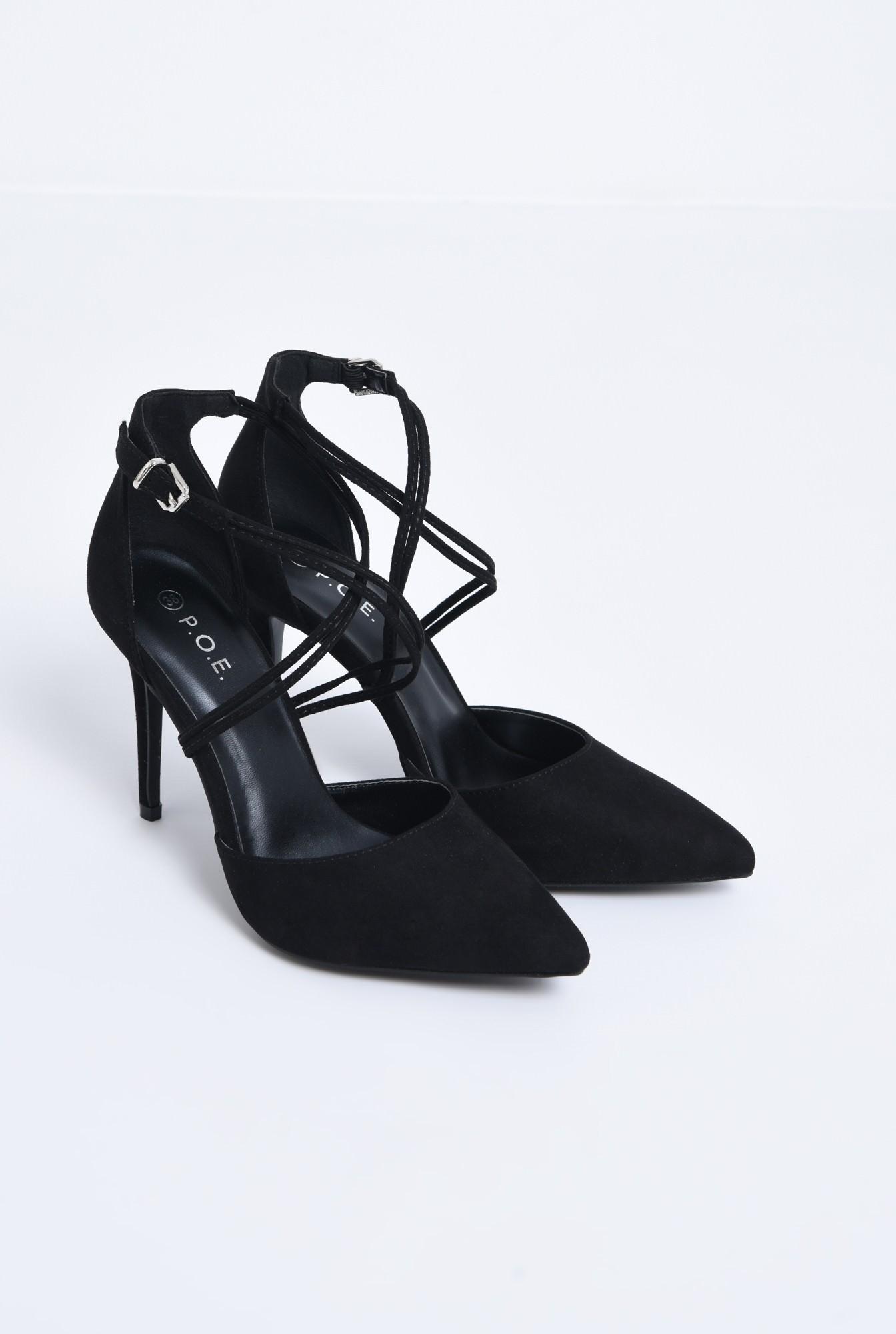 pantofi de ocazie, toc inalt, barete subtiri