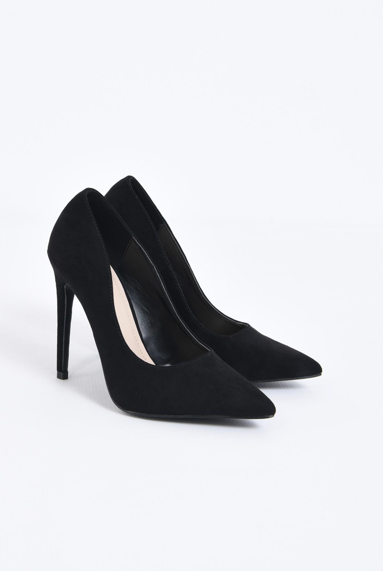 pantofi de ocazie, varf ascutit, toc inalt