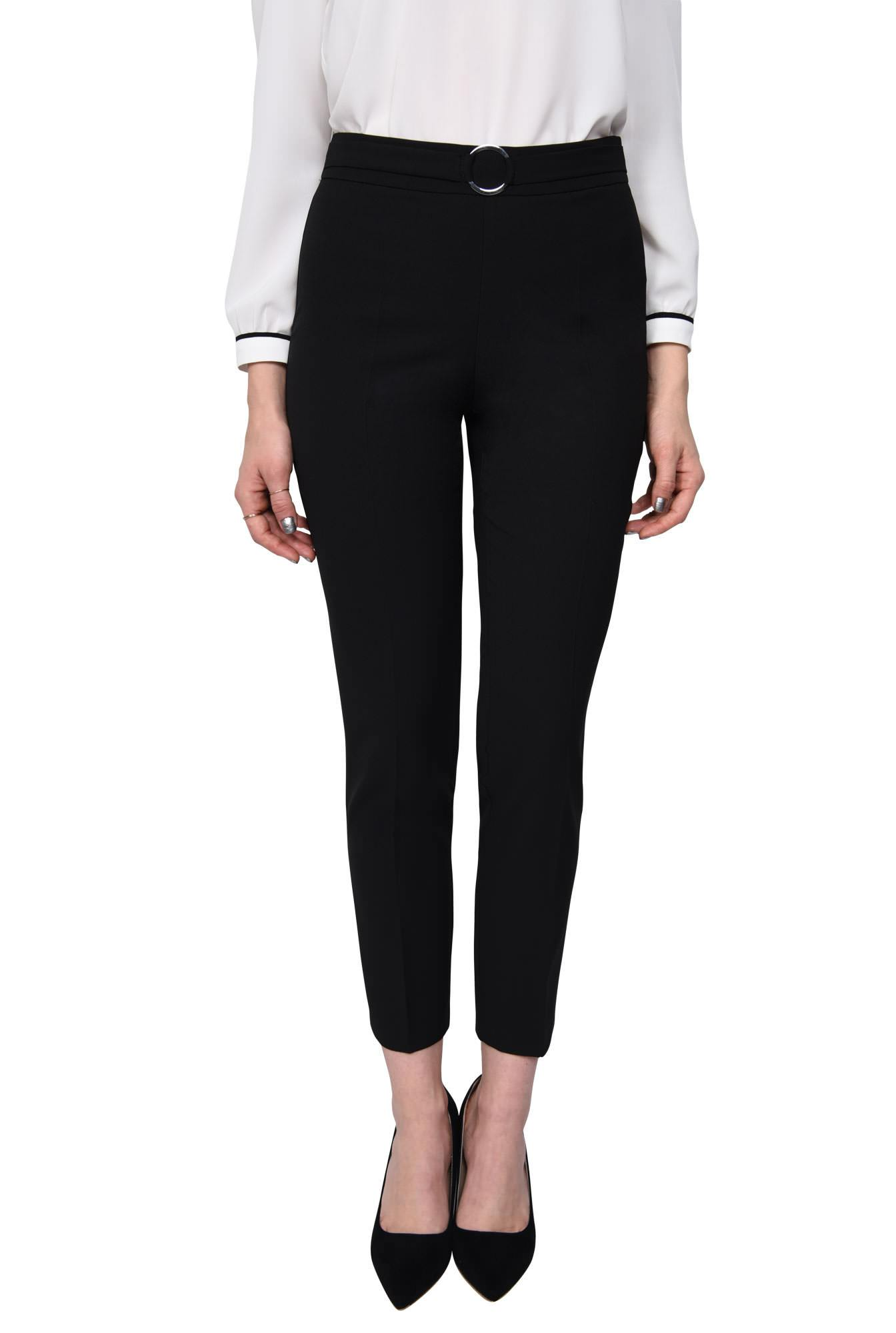 PANTALON OFFICE CONIC PT 127-NEGRU