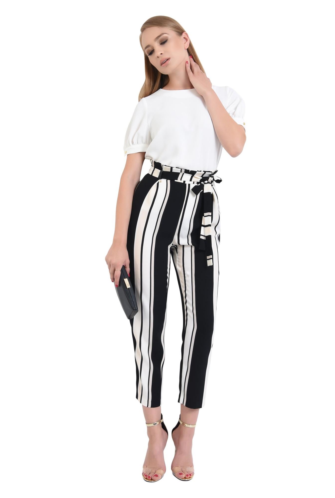 pantaloni eleganti, conici, cu talie inalta, pantaloni de dama online