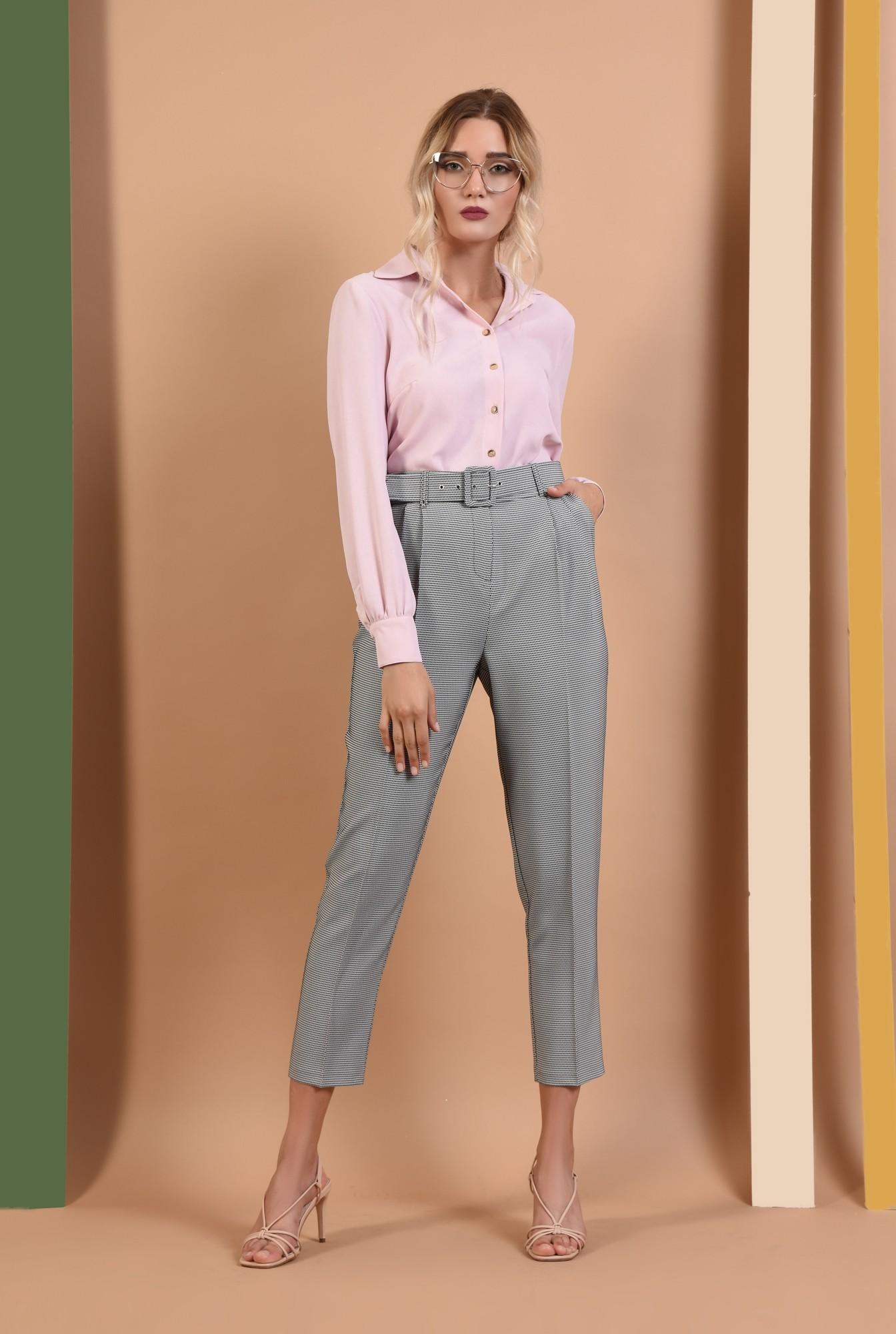 360 - pantaloni de toamna, imprimeu, curea, buzunare functionale