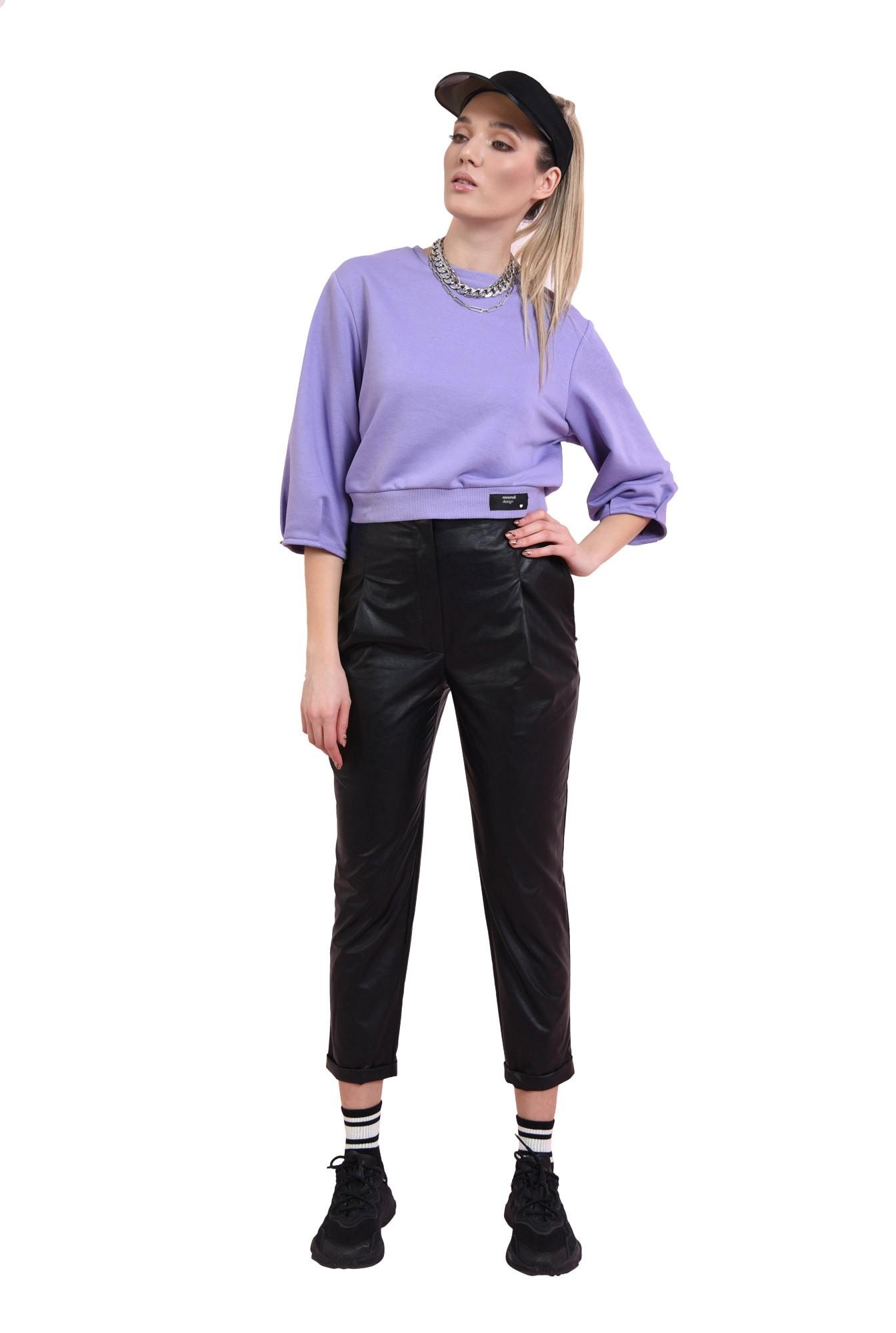 pantaloni casual, conici, cu pense