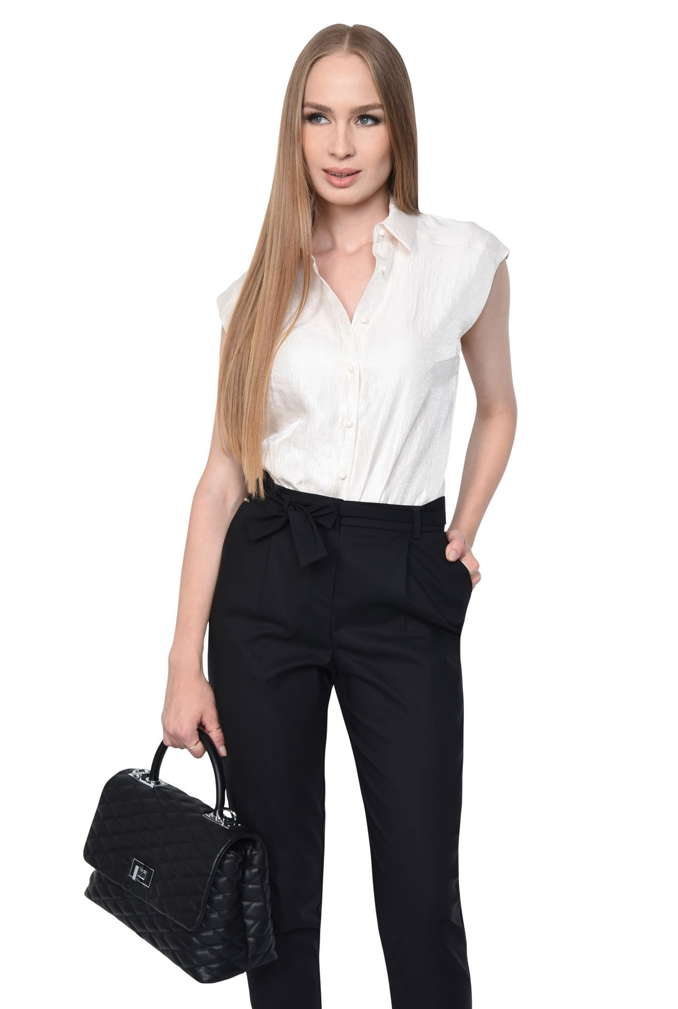 PANTALON OFFICE CONIC PT 157-NEGRU