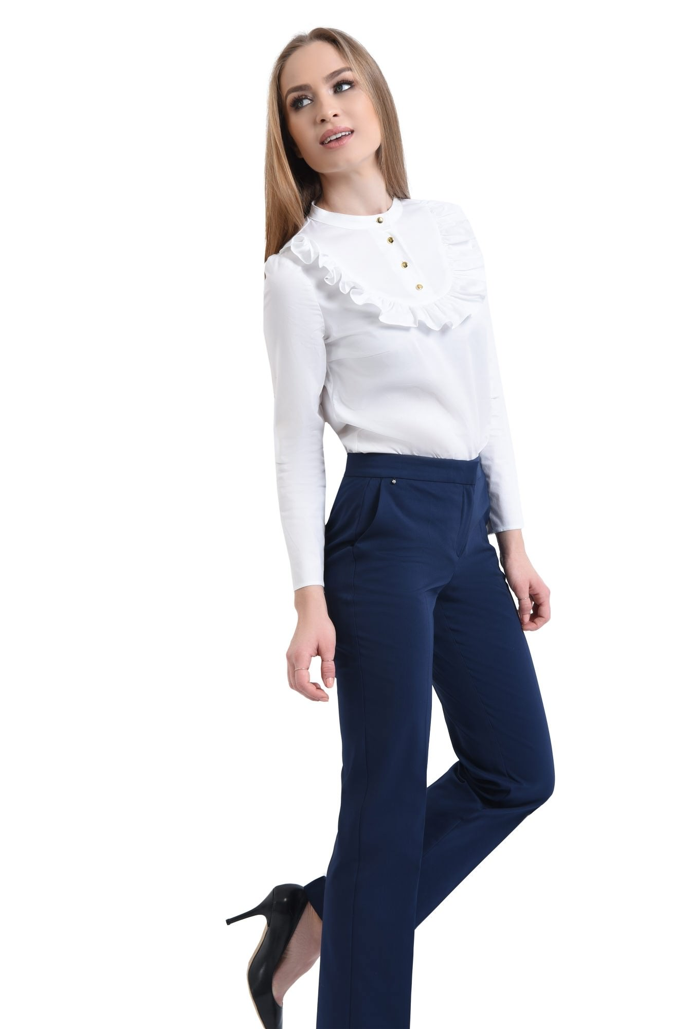 Pantaloni casual, bleumarin