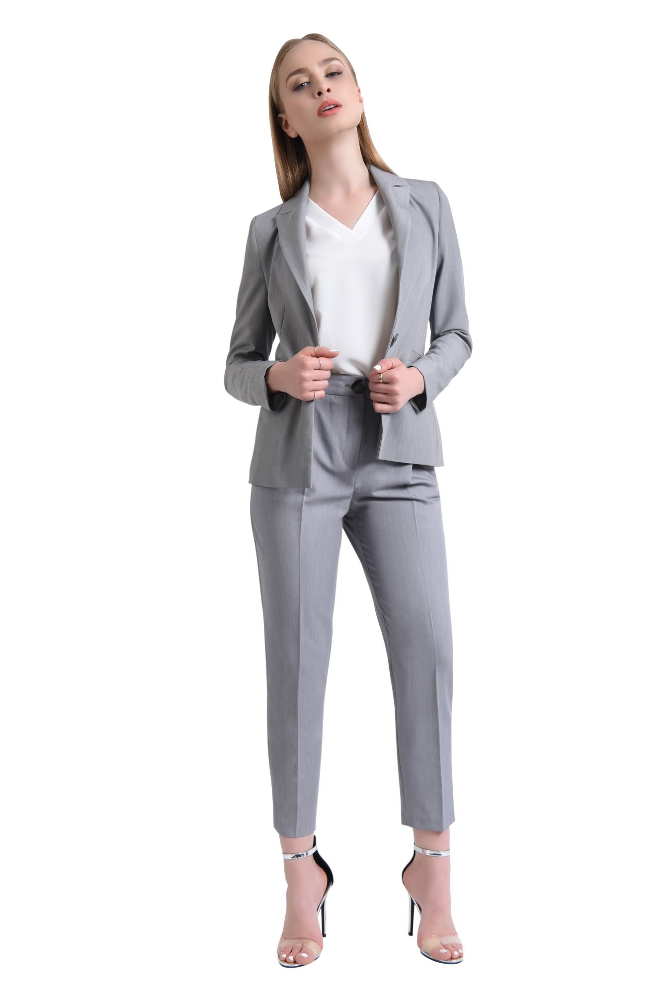 360 - Pantaloni casual, cu buzunare, lungi