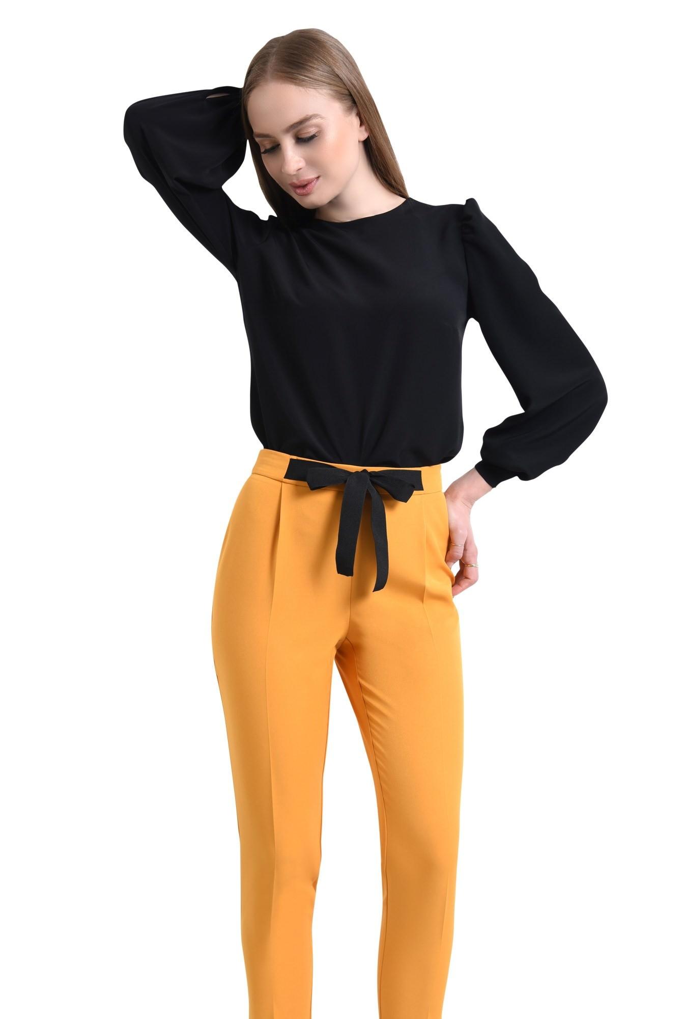 Pantaloni casual, mustar