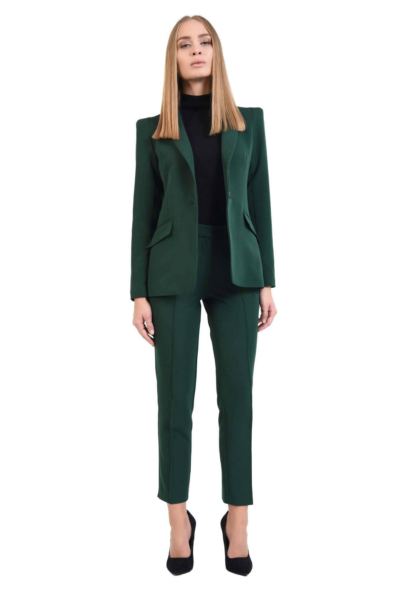 360 - pantaloni de toamna, tesatura texturata, croi pana, talie medie