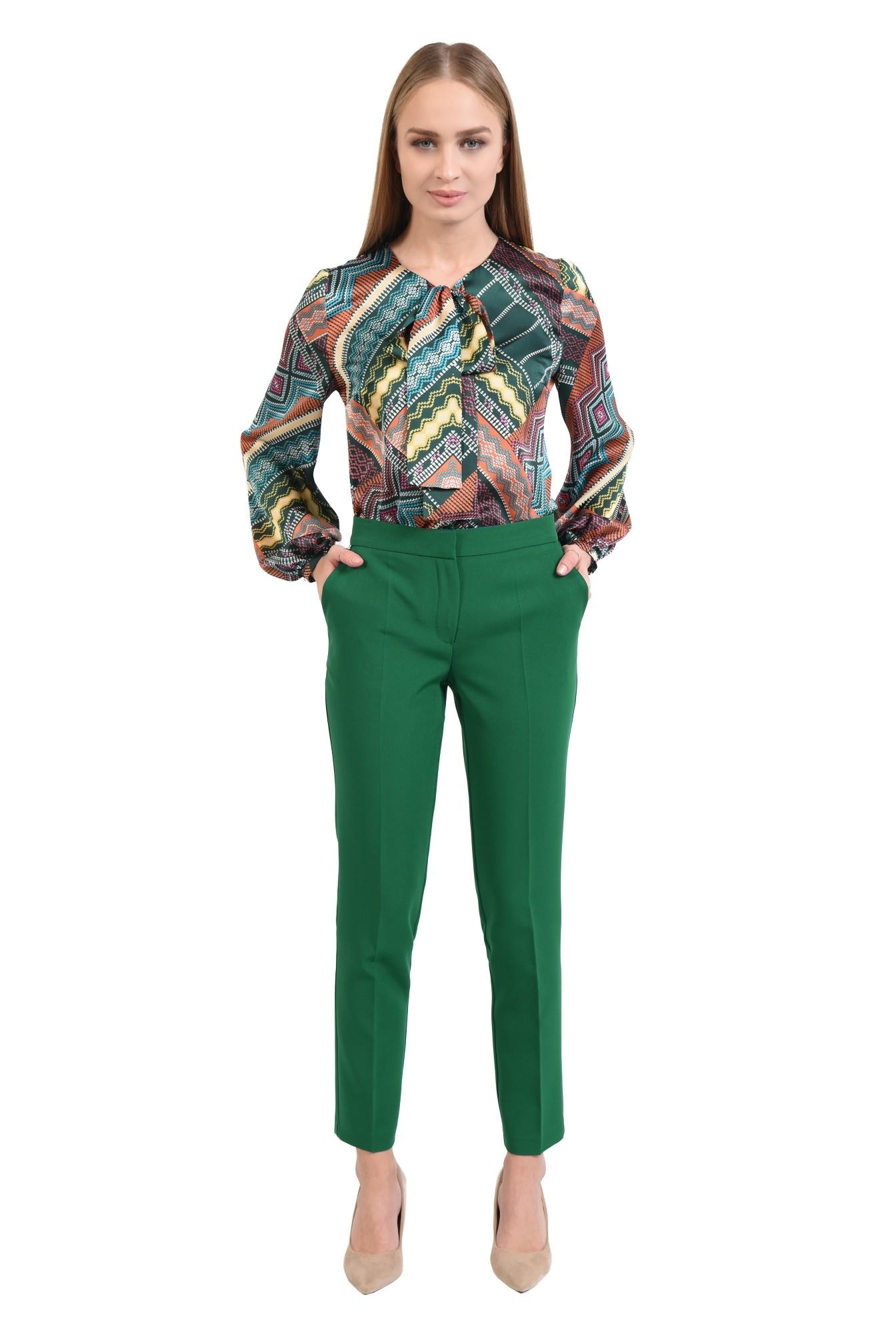 360 - pantaloni casual, croi conic, betelie, la dunga