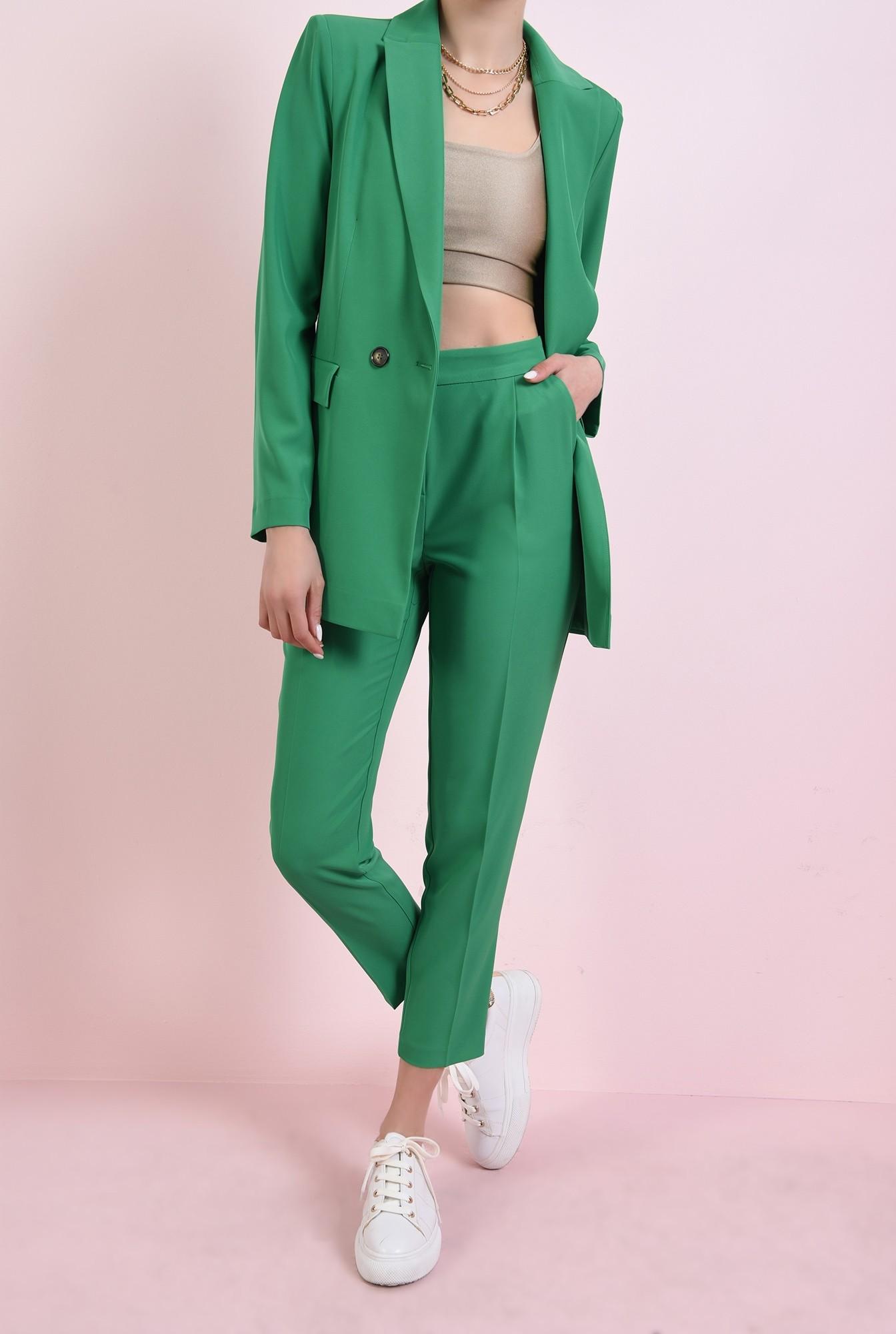 pantaloni cu talie medie, cu buzunare