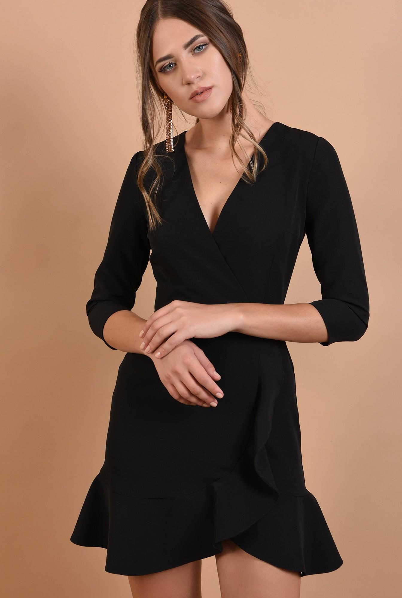 rochie mini, eleganta, petrecuta, cu volane, anchior
