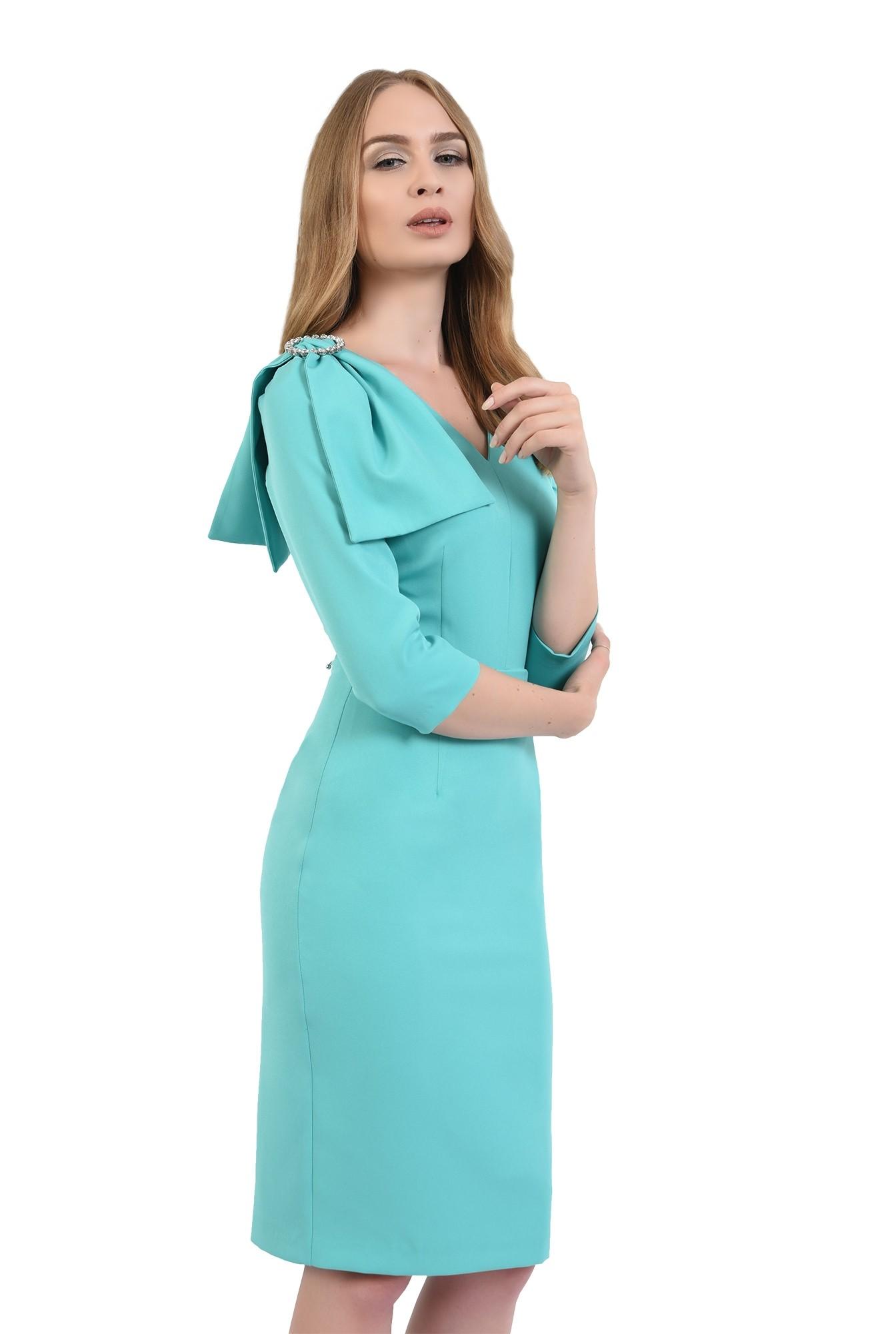 rochie poema, eleganta, cu funda