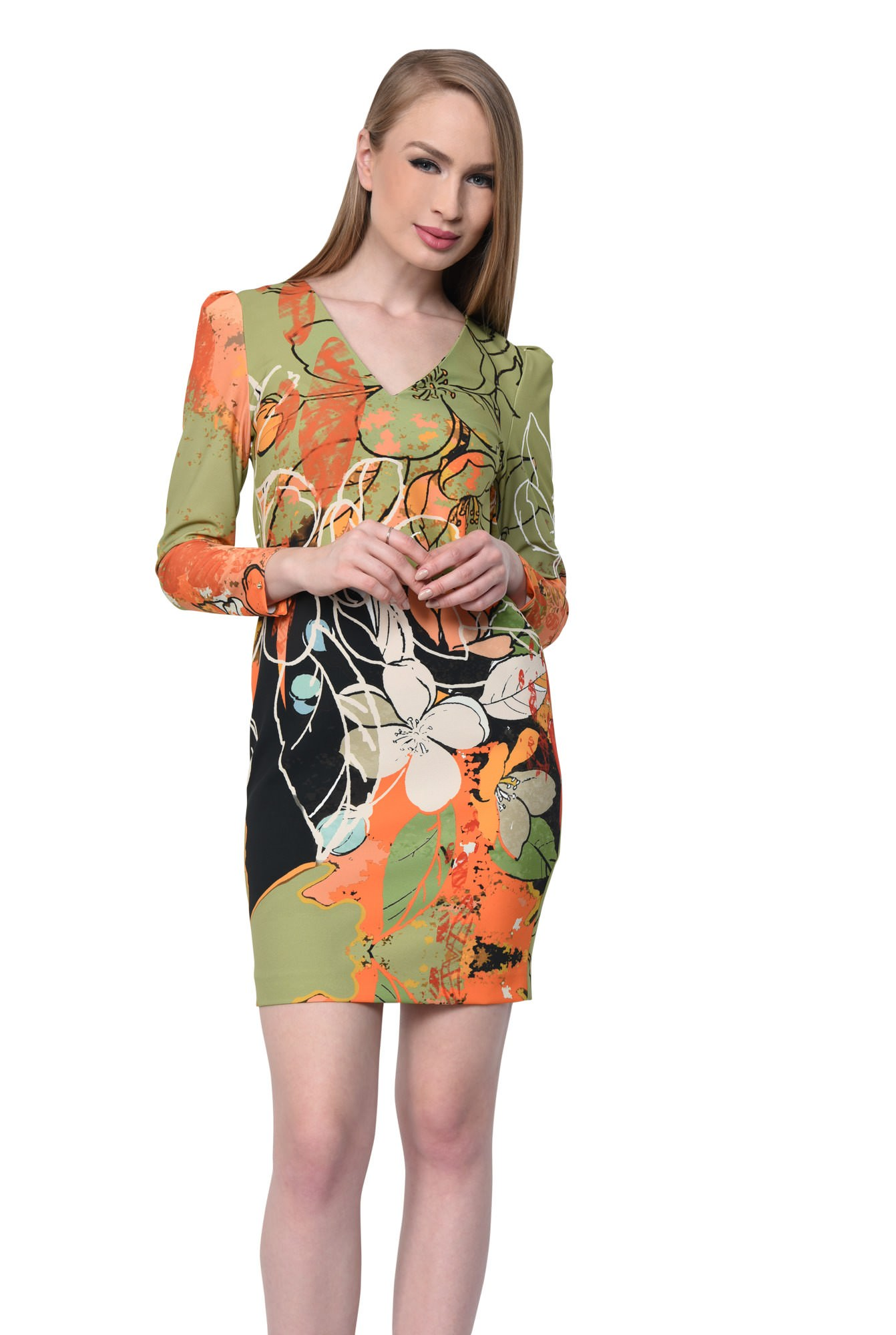 ROCHIE CASUAL DREAPTA R 237-PRINT OLIVE