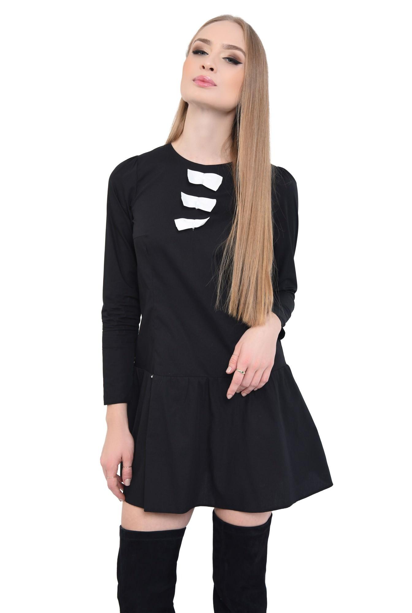 Rochie casual neagra, mini