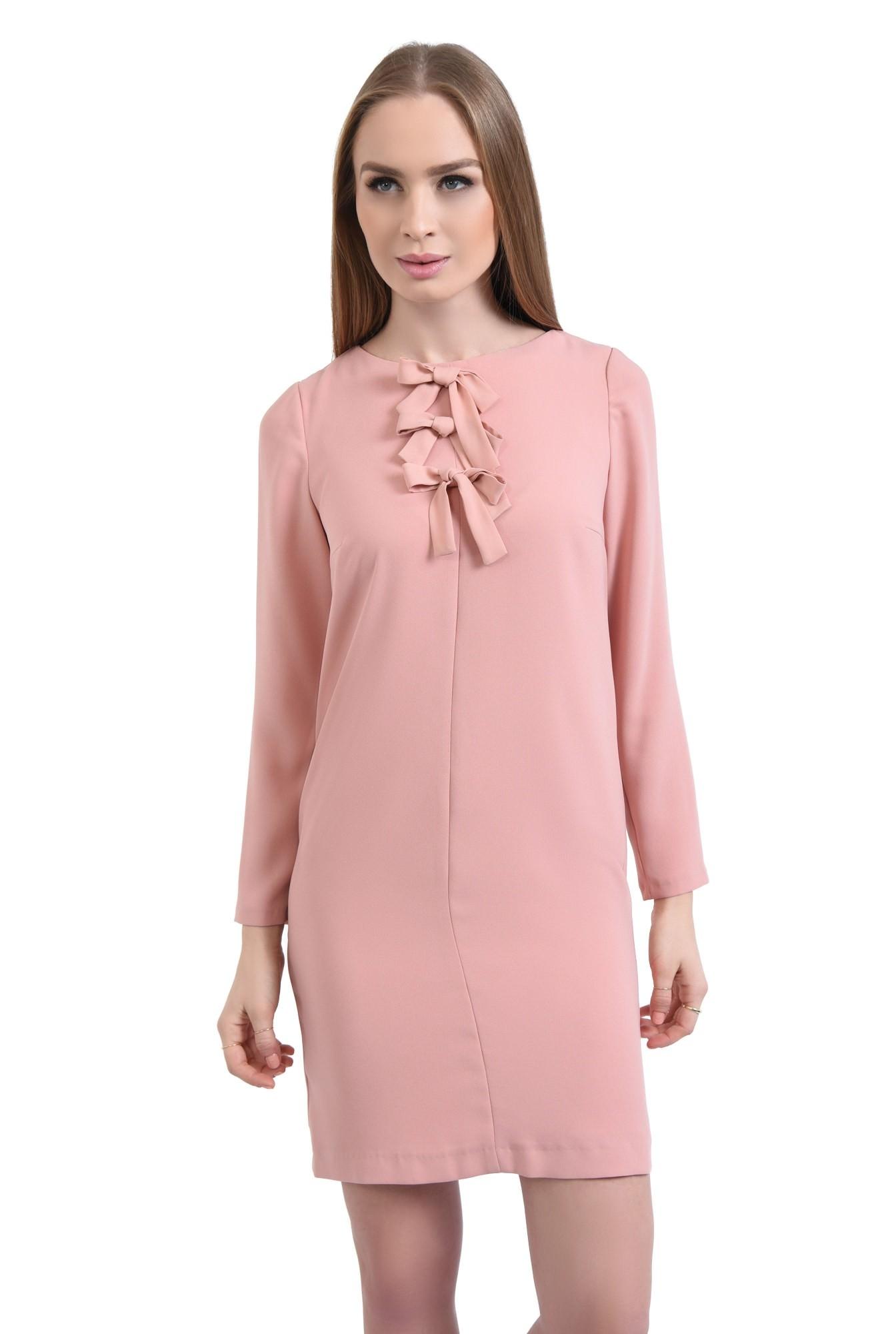 Rochie casual scurta, roz