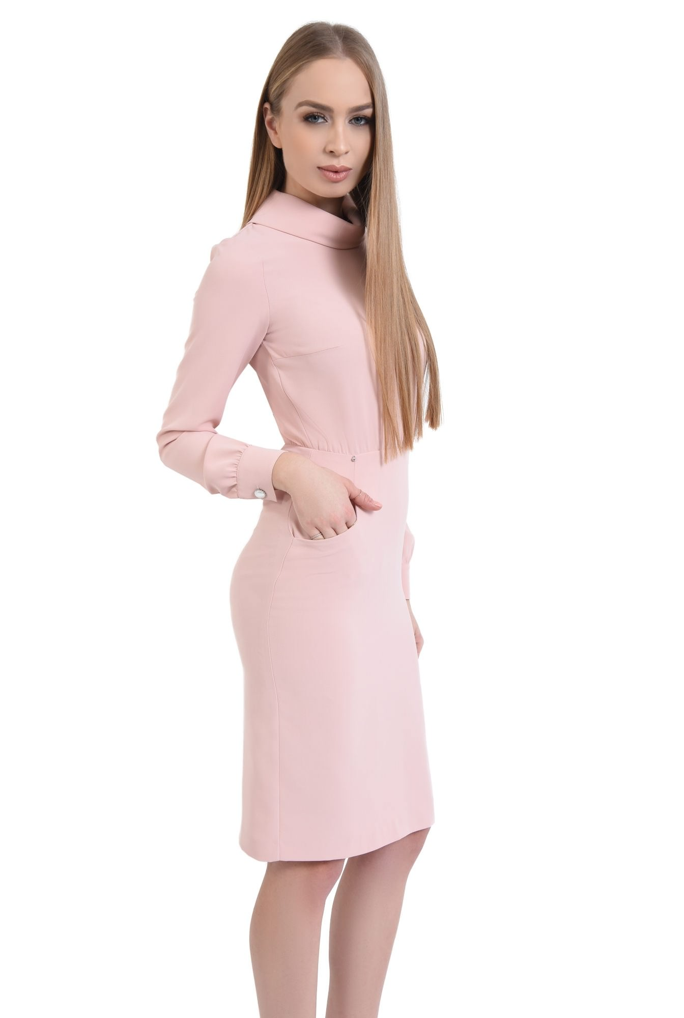Rochie casual, roz