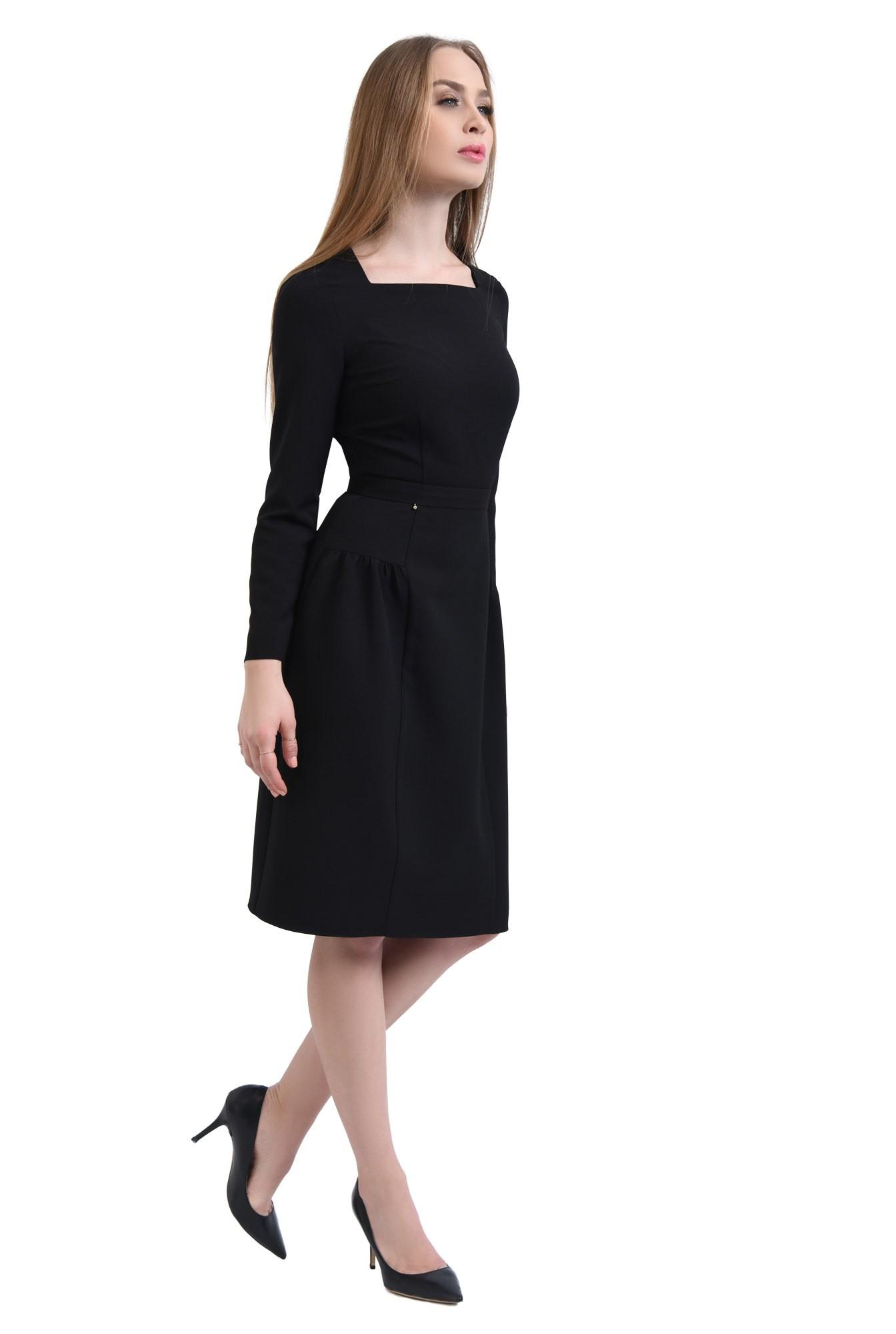 360 - rochie casual midi, inchidere cu fermoar, rochii de dama online