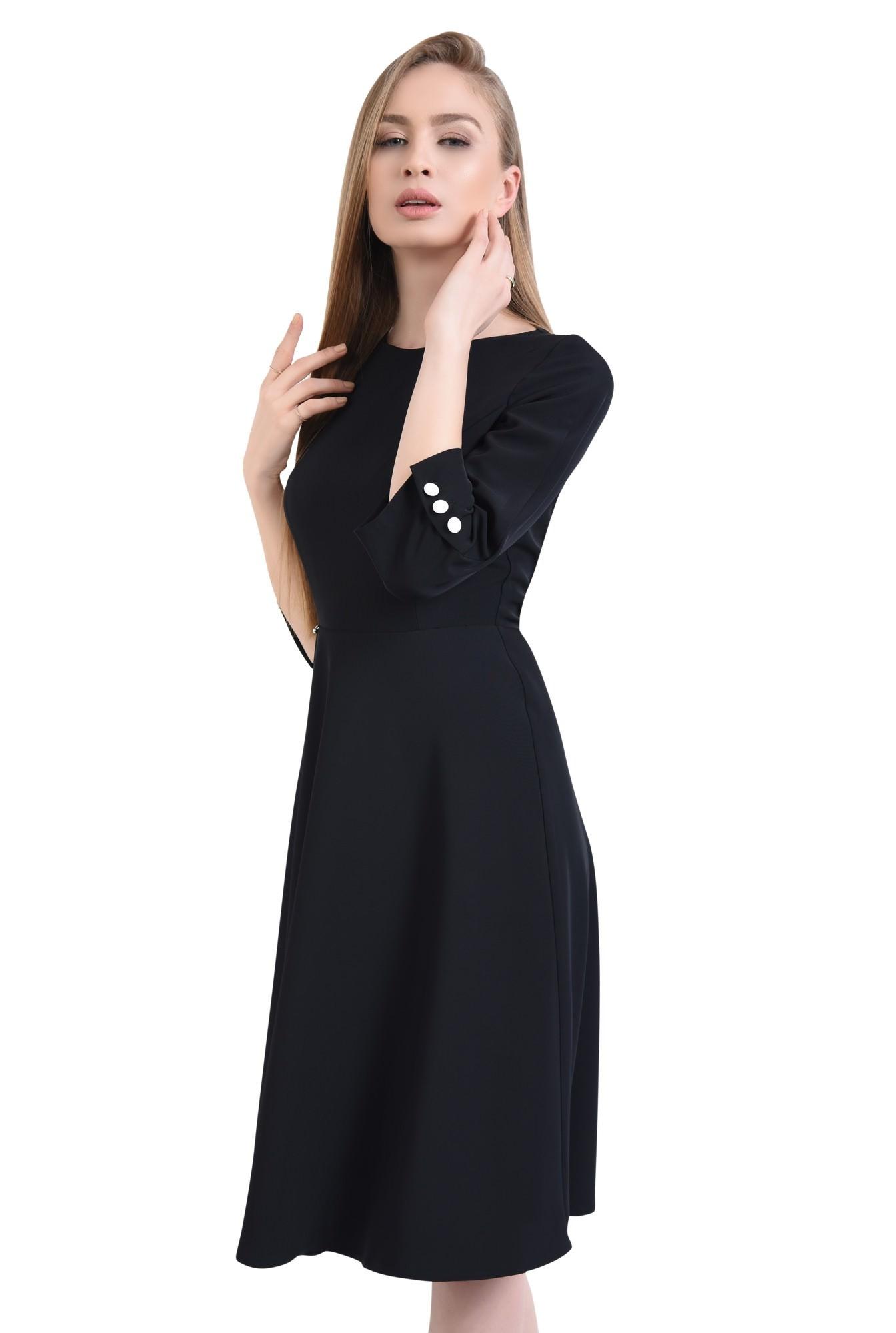 Rochie casual neagra, midi