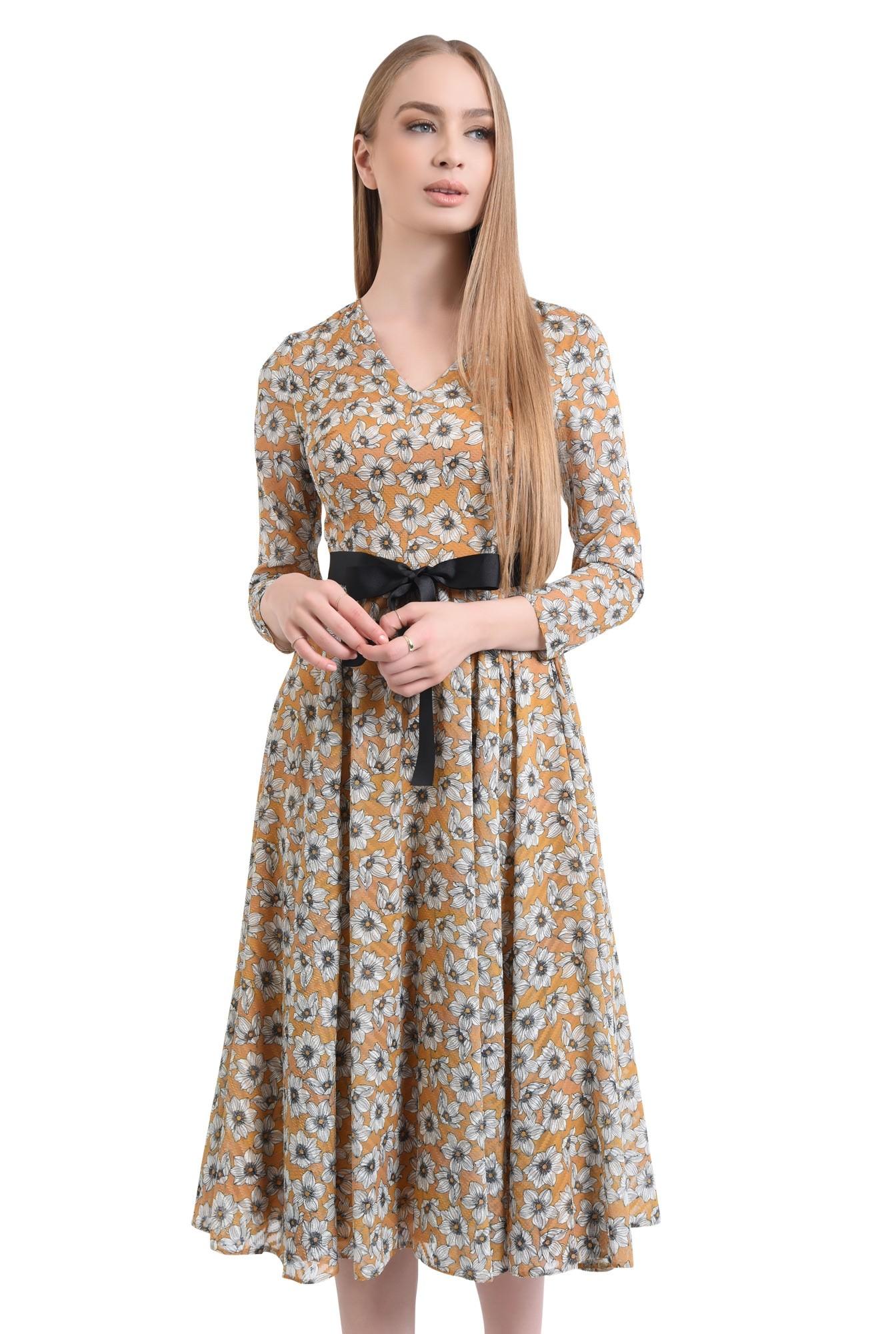 Rochie eleganta, imprimeu floral