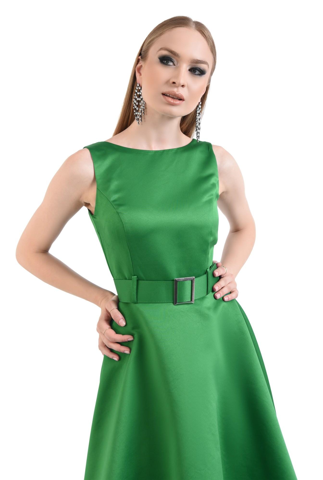 Rochie midi eleganta, fara maneci