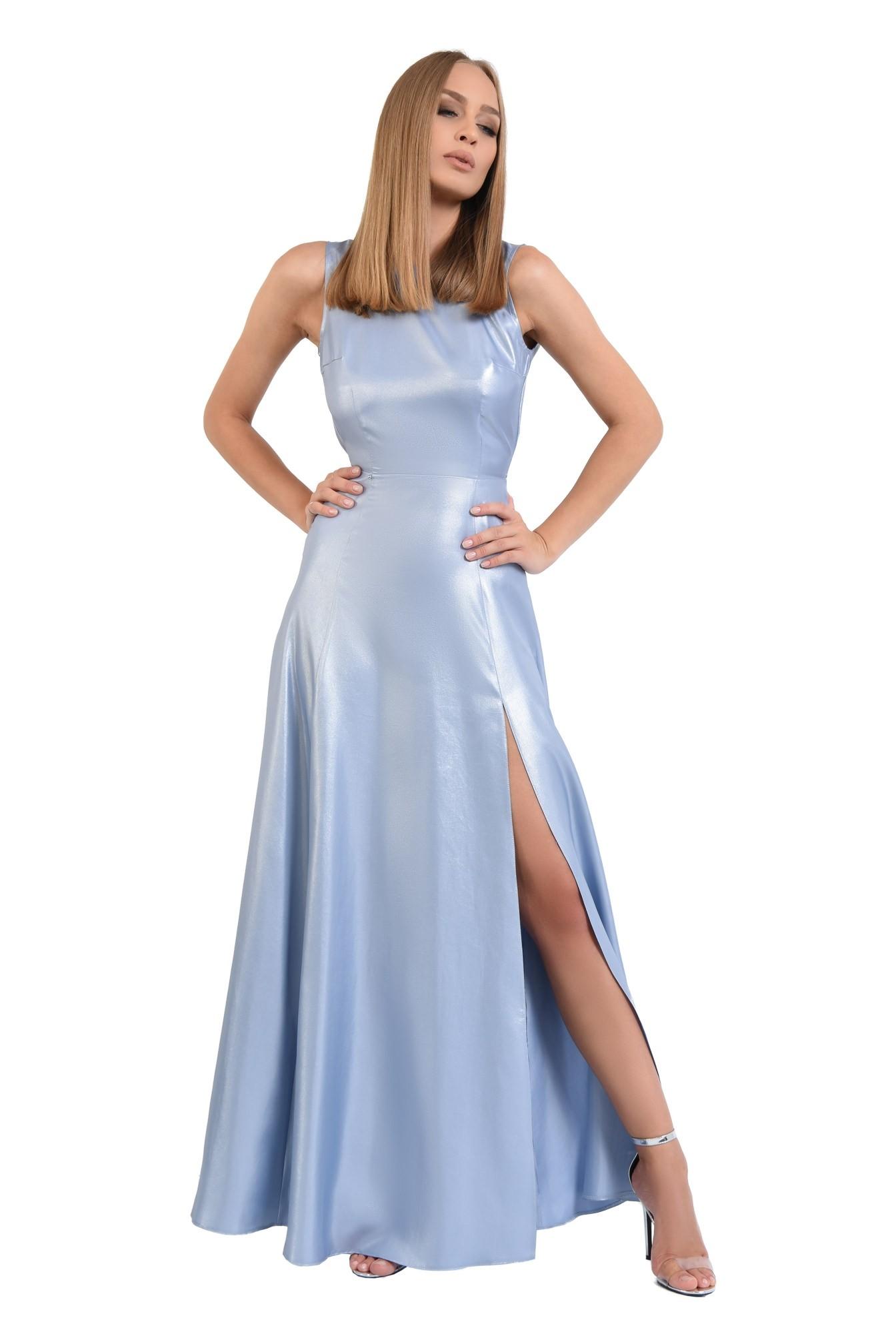 rochie de seara, maxi, aspect metalic