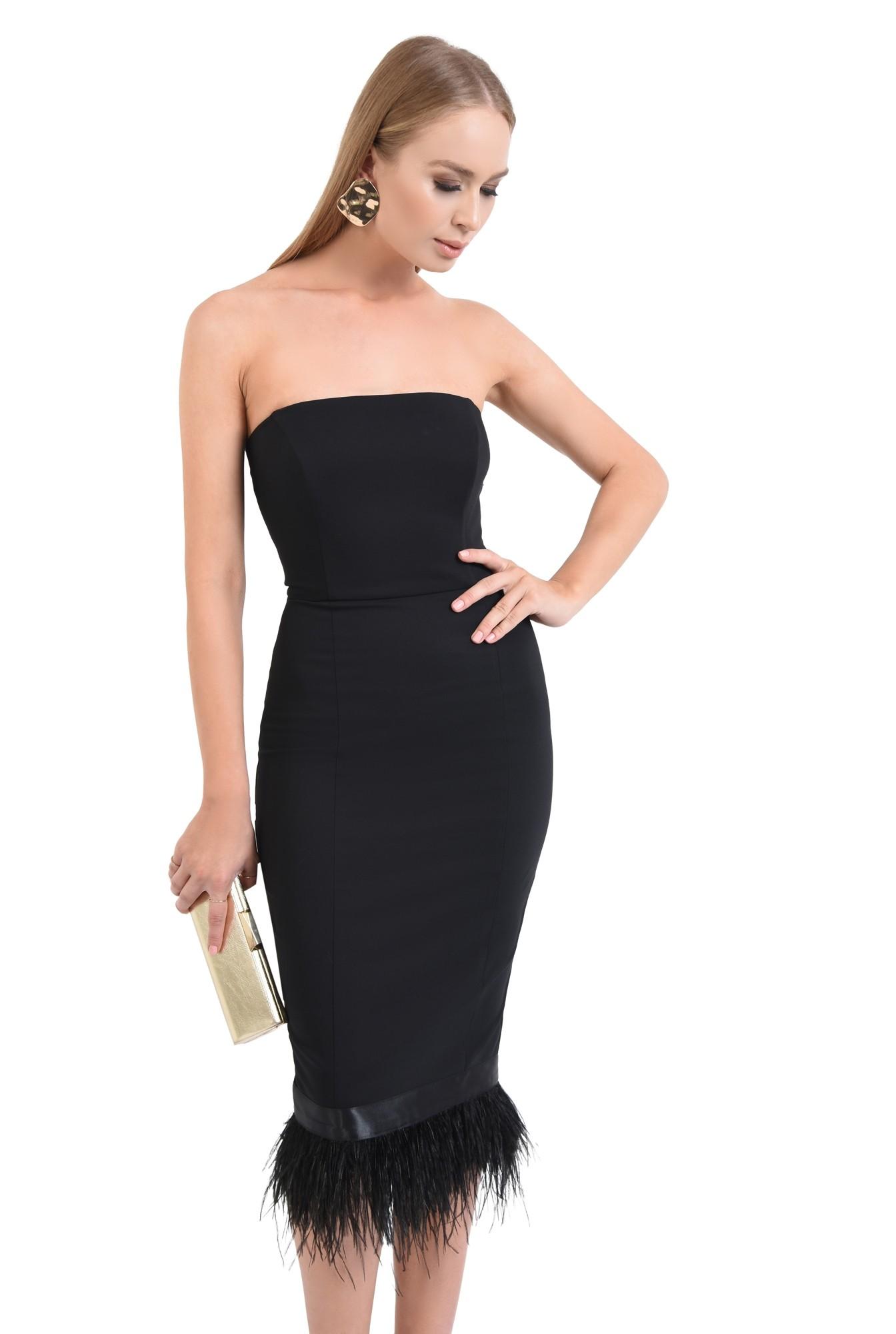 rochie eleganta, negru, corset