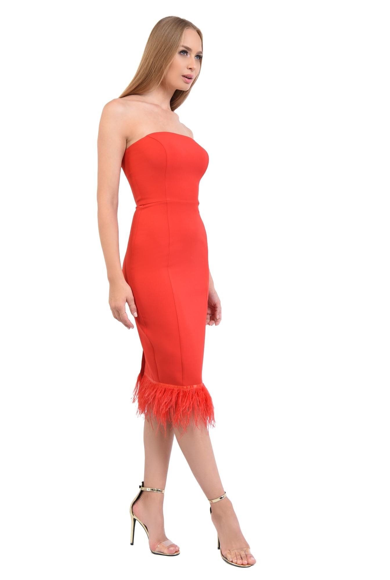 rochie eleganta, rosu, corset