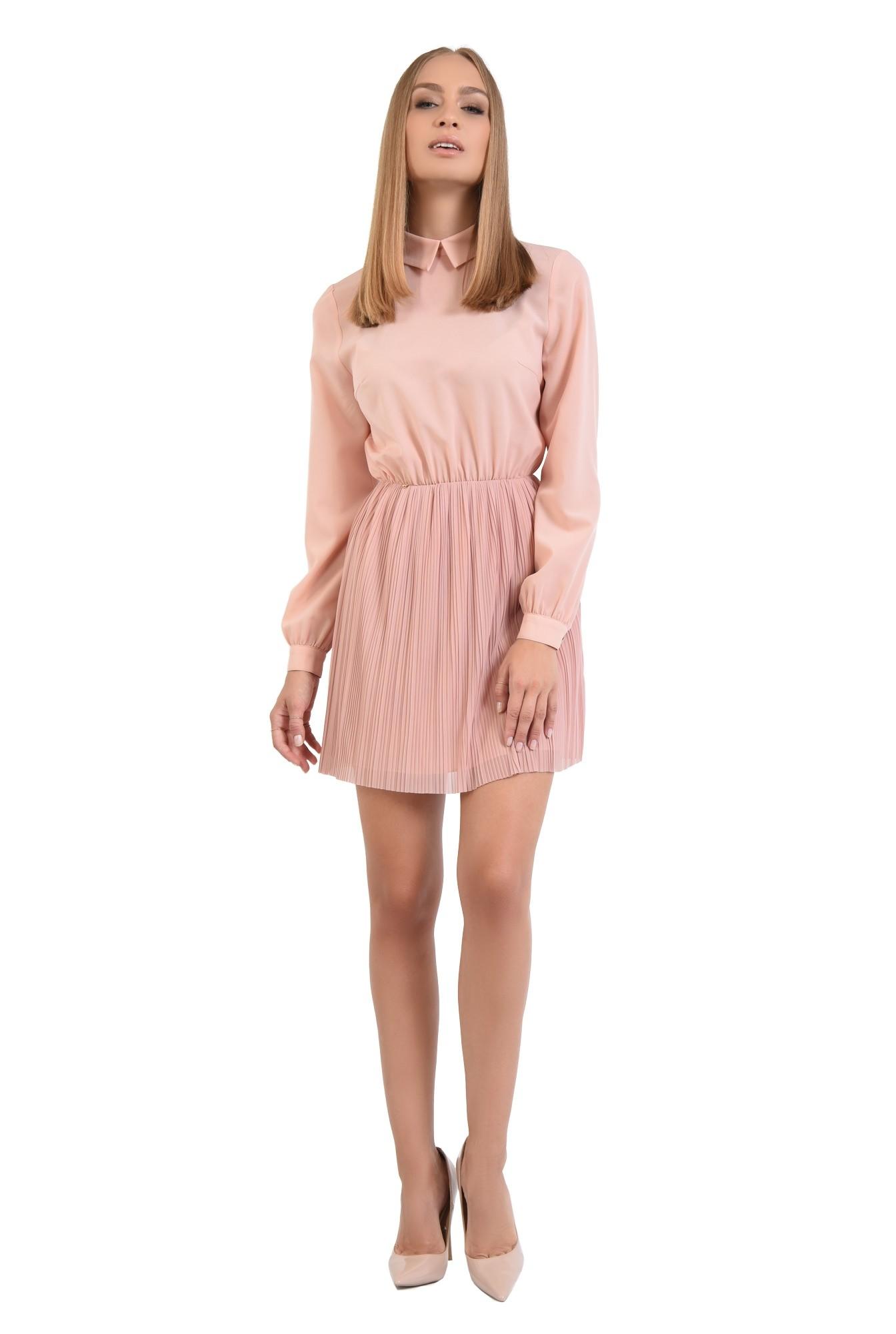 360 - rochie din voal plisata, clos, rochii online