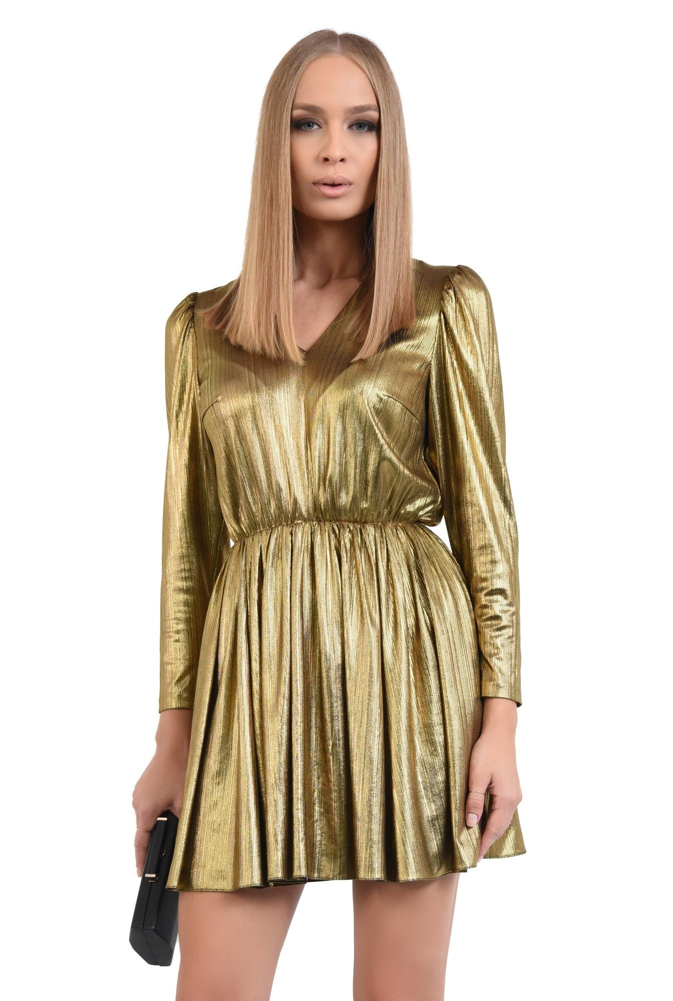 rochie eleganta, din lurex, anchior, clos