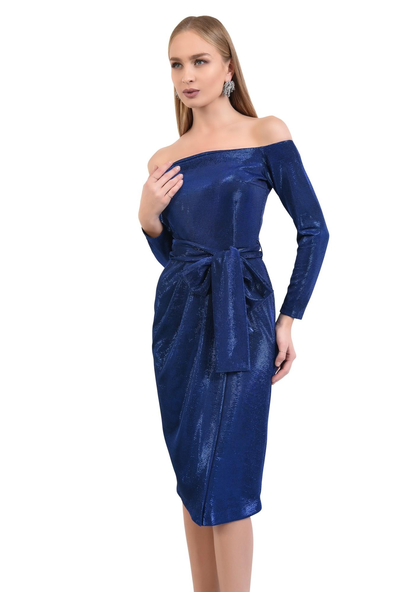 rochie eleganta, midi, conica, cu cordon, rochii online