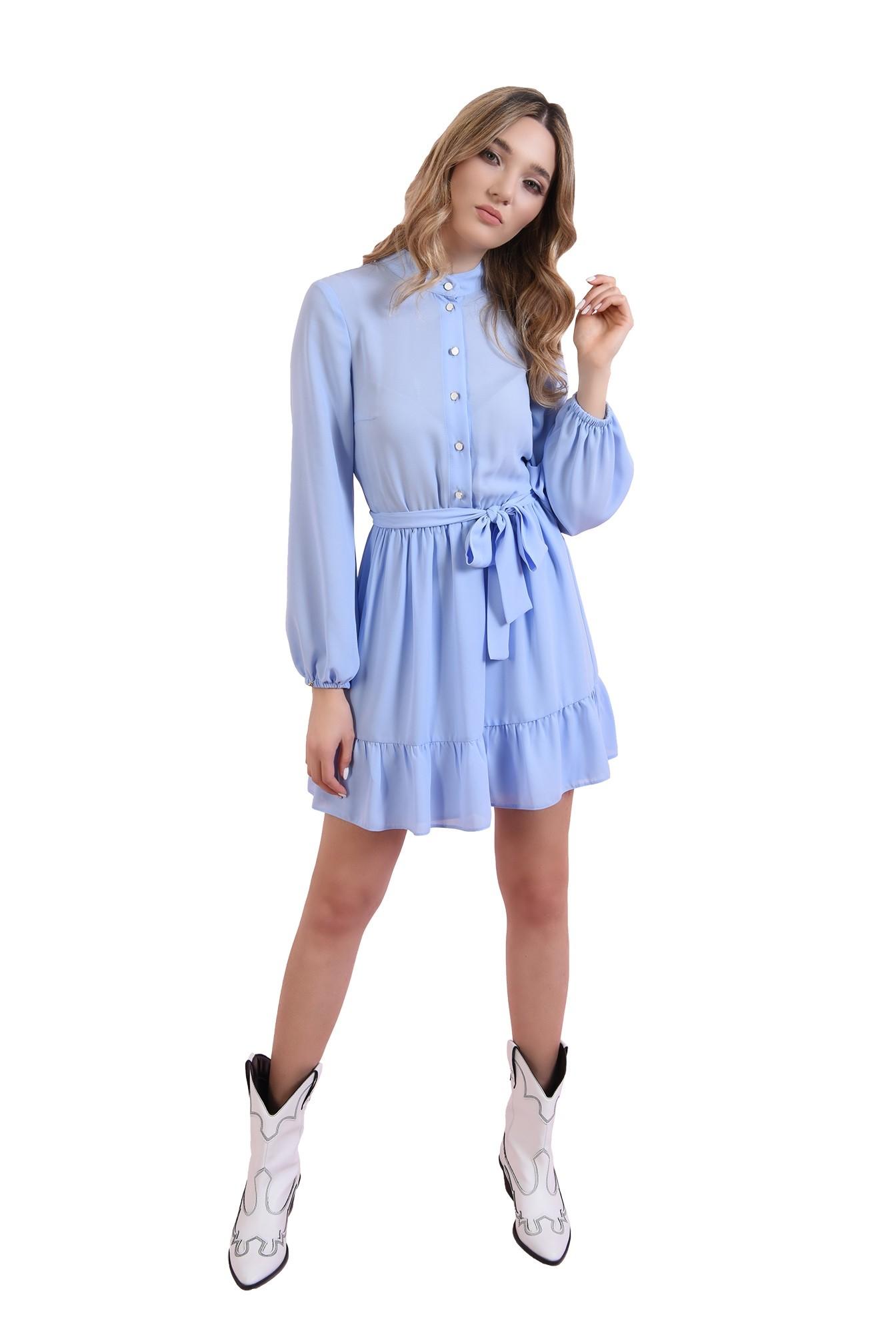 rochie bleu, cu cordon, Poema