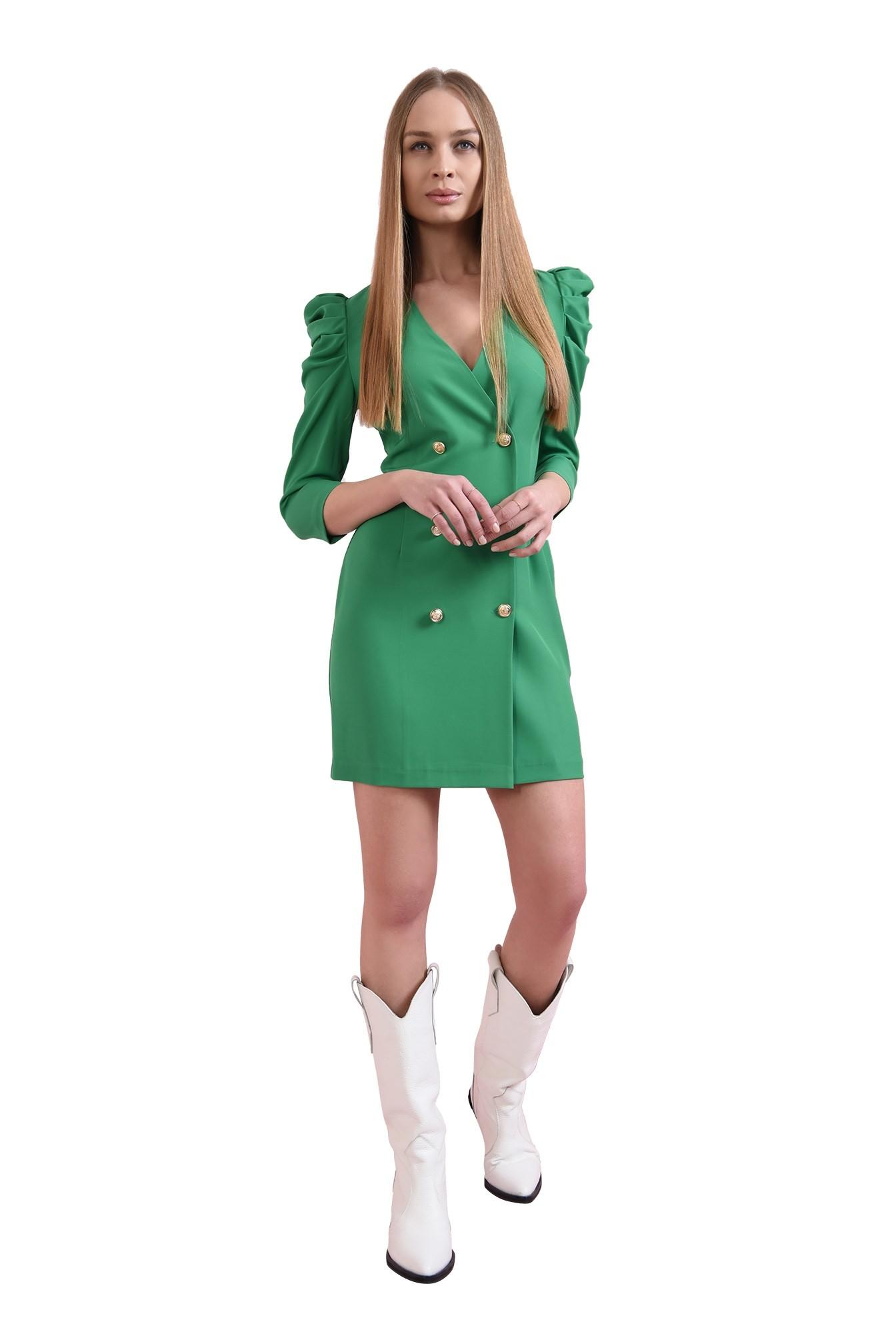 rochie scurta, verde, Poema