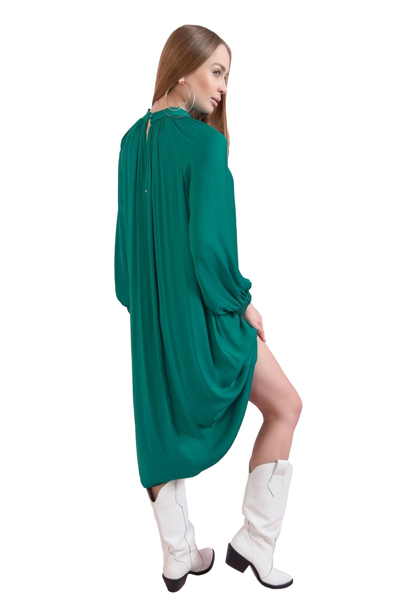 rochie verde, din satin, Poema