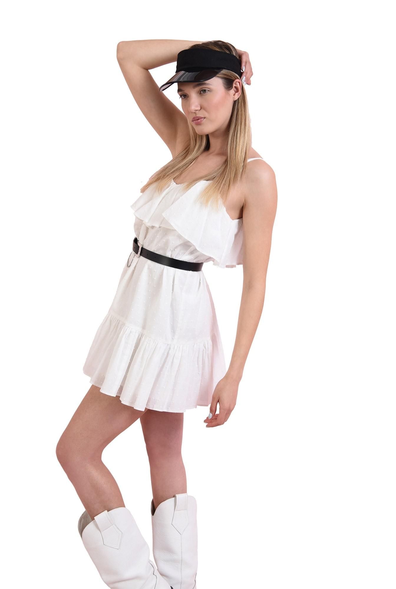 rochie din bumbac, cu bretele subtiri
