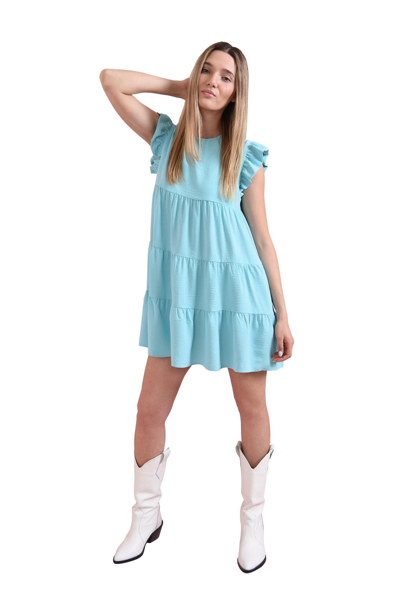 rochie evazata, cu buzunare laterale