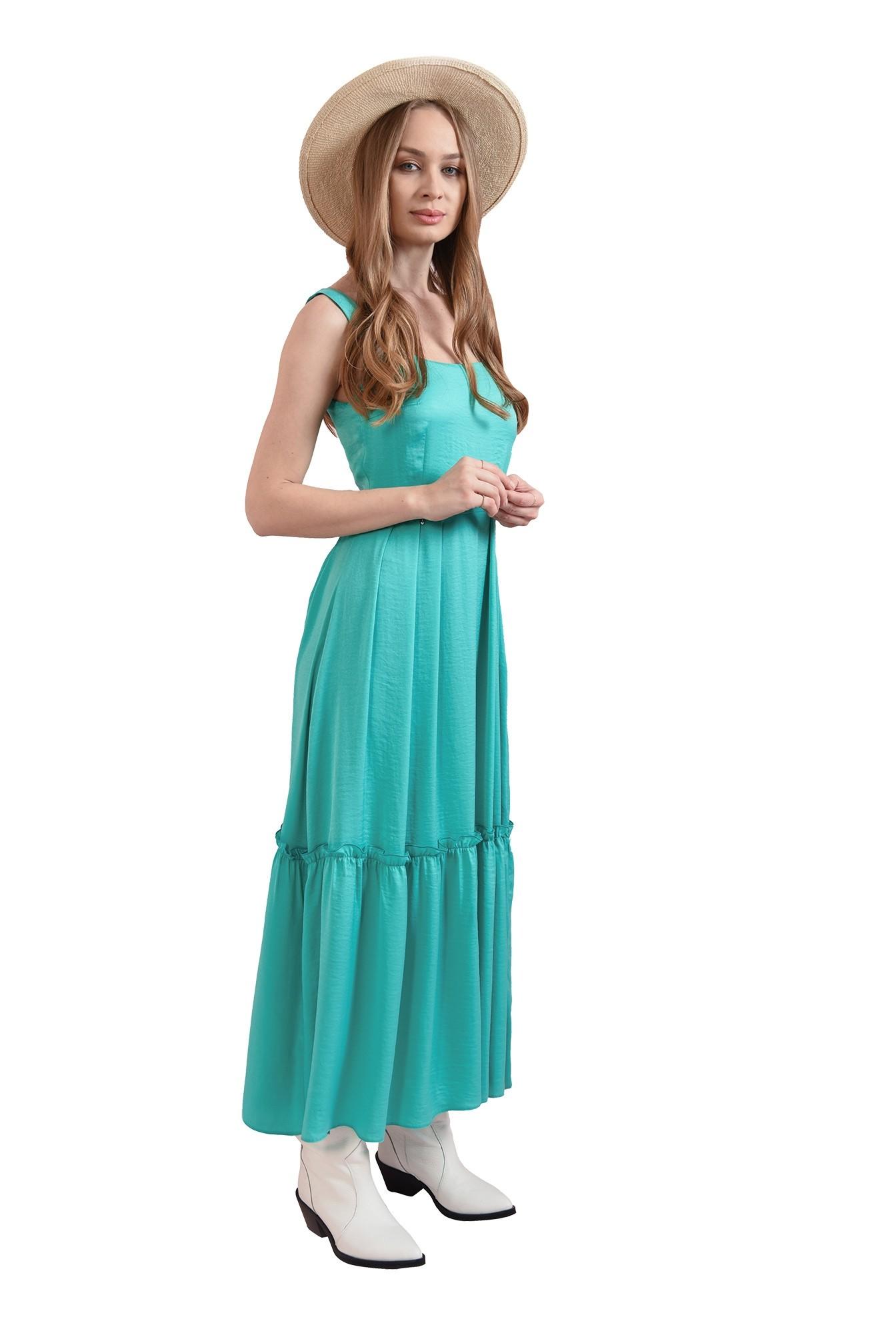 rochie verde, midi, Poema