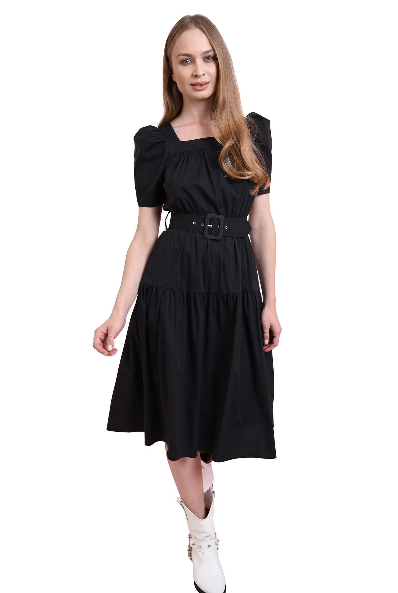 rochie neagra, cu centura, Poema