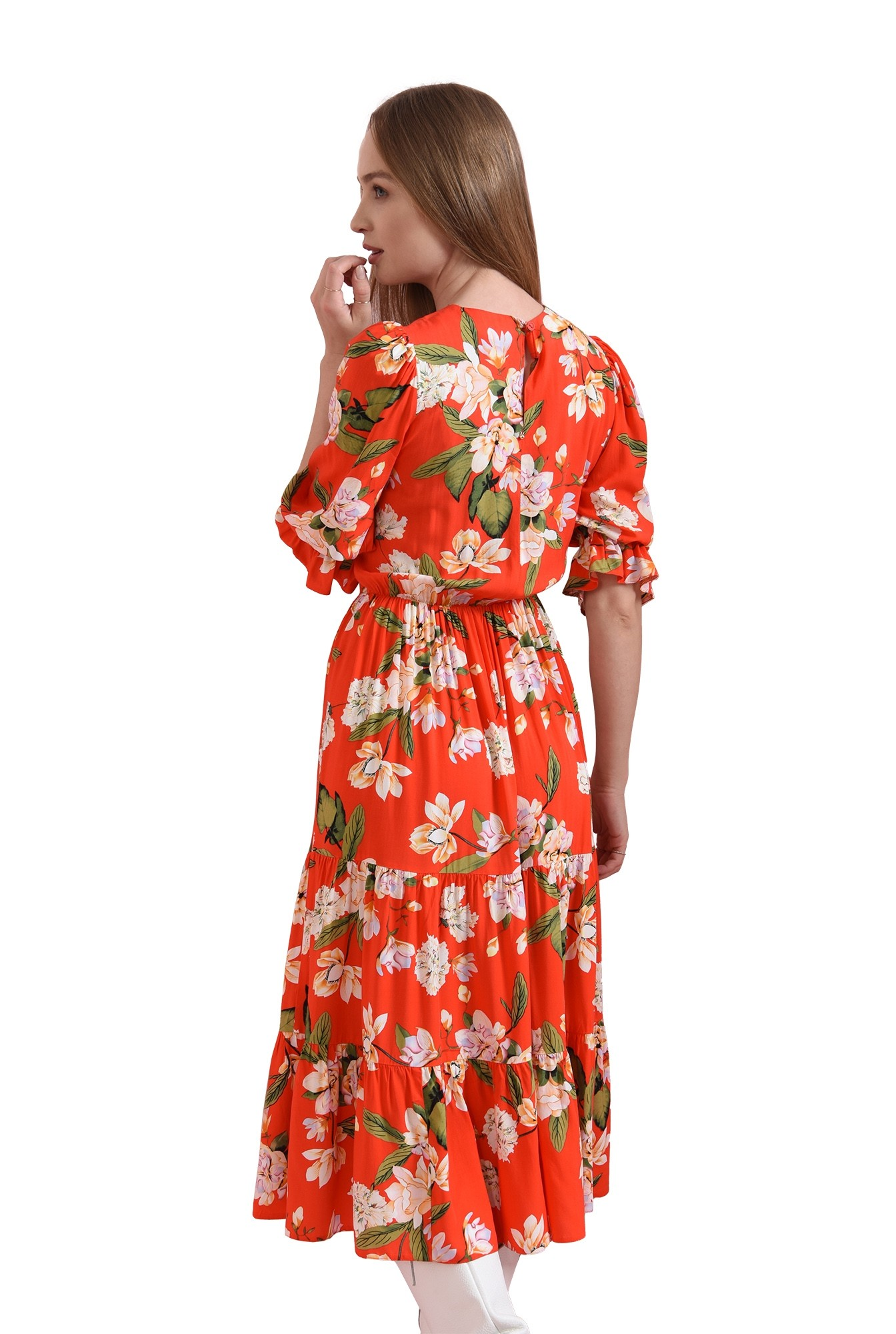 rochie cu elastic la talie, Poema