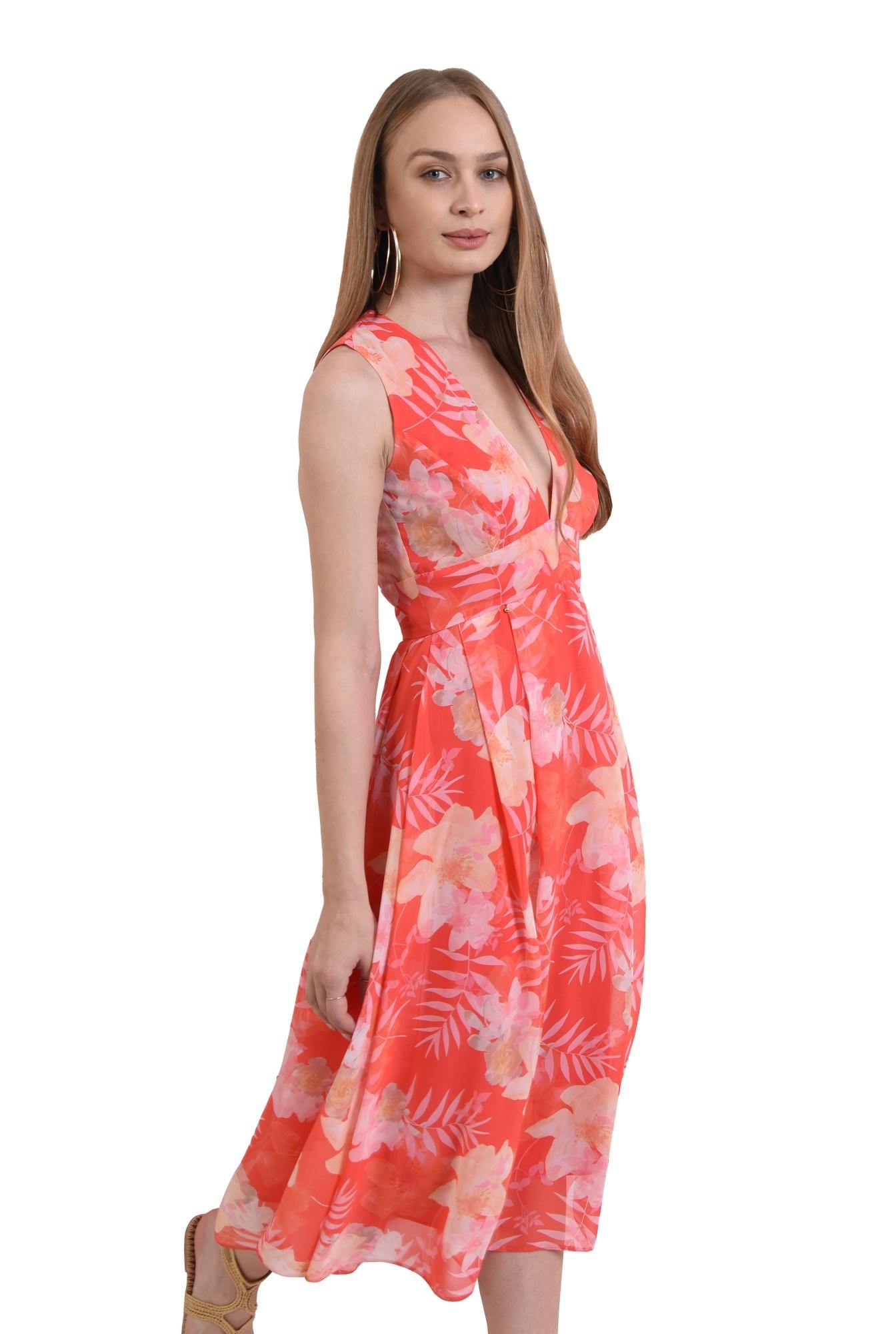 rochie din voal, cu flori