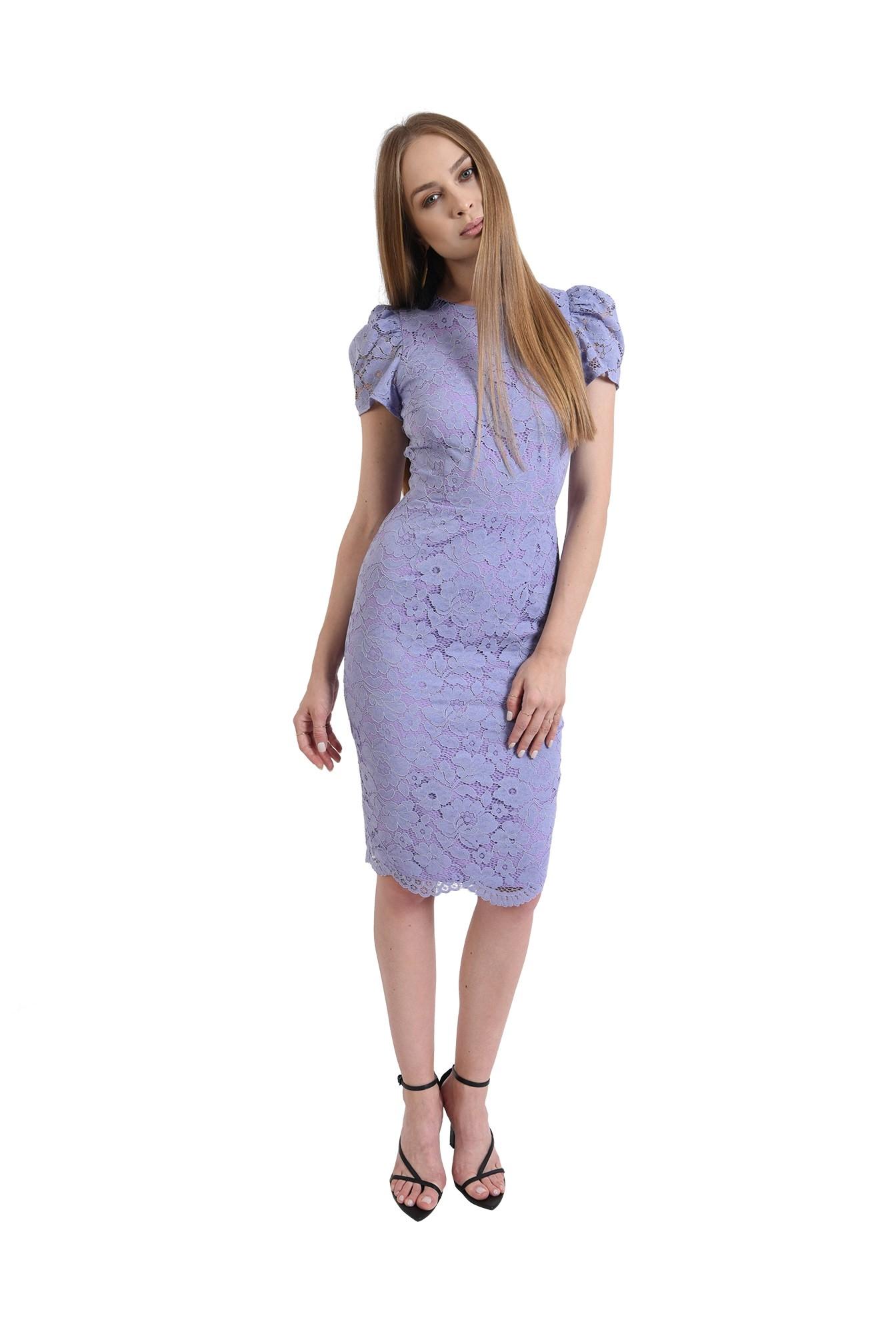 rochie din dantela, eleganta, cu maneca scurta