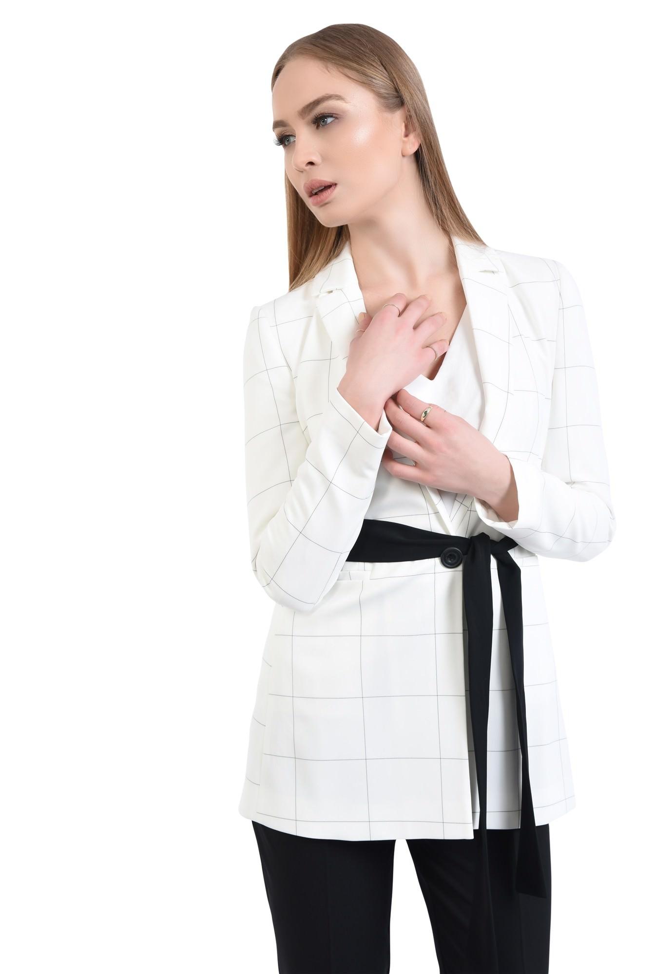 Sacou elegant, alb