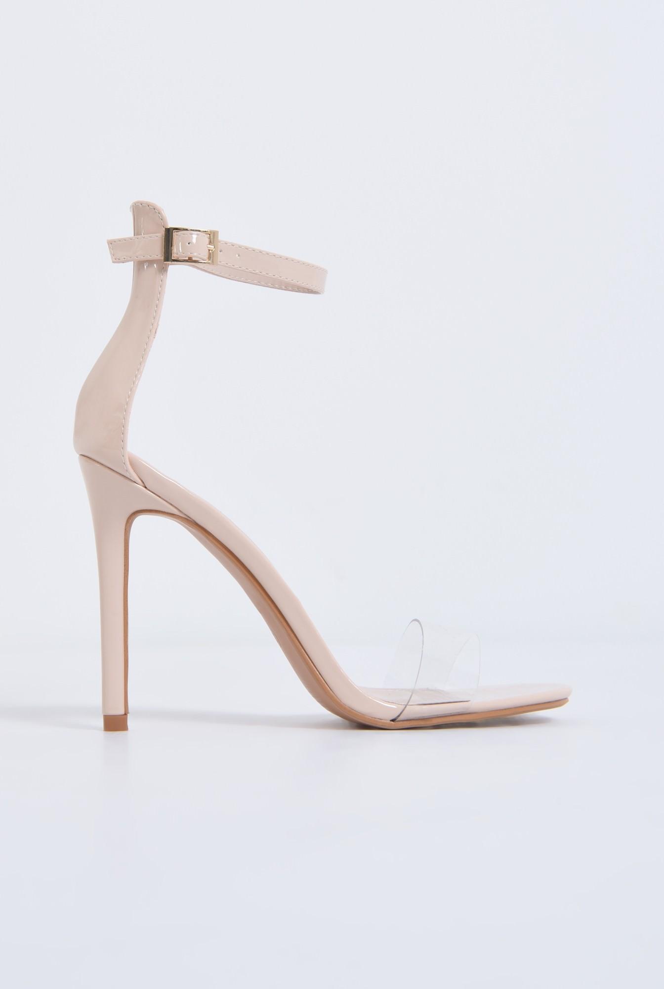 sandale elegante, nude, lac, stiletto