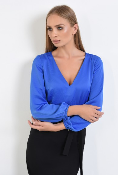 BLUZA OFFICE CU ANCHIOR SI MANSETE ELASTICE