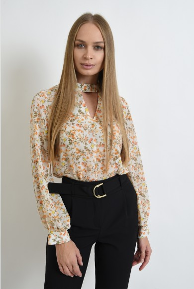 BLUZA CASUAL DIN VOAL FLORAL