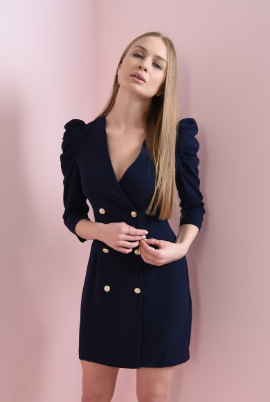 ROCHIE SACOU NAVY CU MANECI FRONSATE