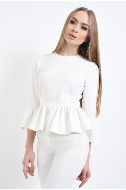 Bluza eleganta, peplum, maneci clopot, bluze online