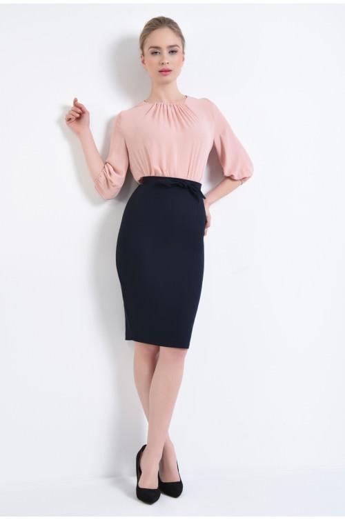 360 - Bluza de zi roz, mansete pe elastic