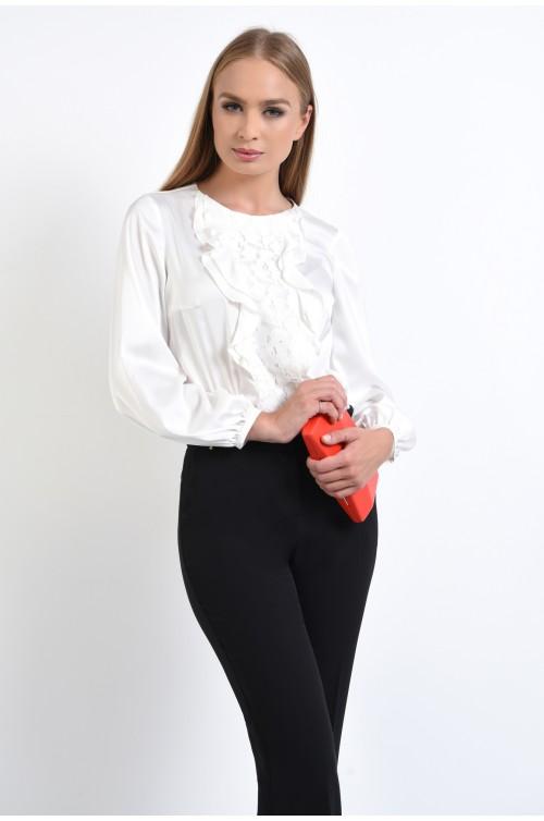 bluza eleganta, maneci bufante, mansete eleastice, bluze online