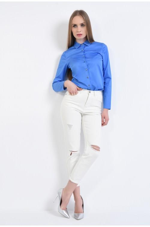 360 - Jeans alb, denim, bumbac
