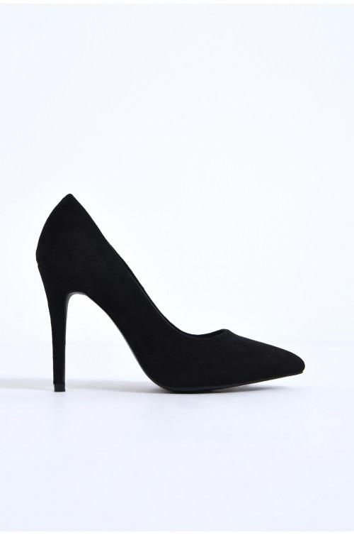 pantofi casual, negru, stiletto